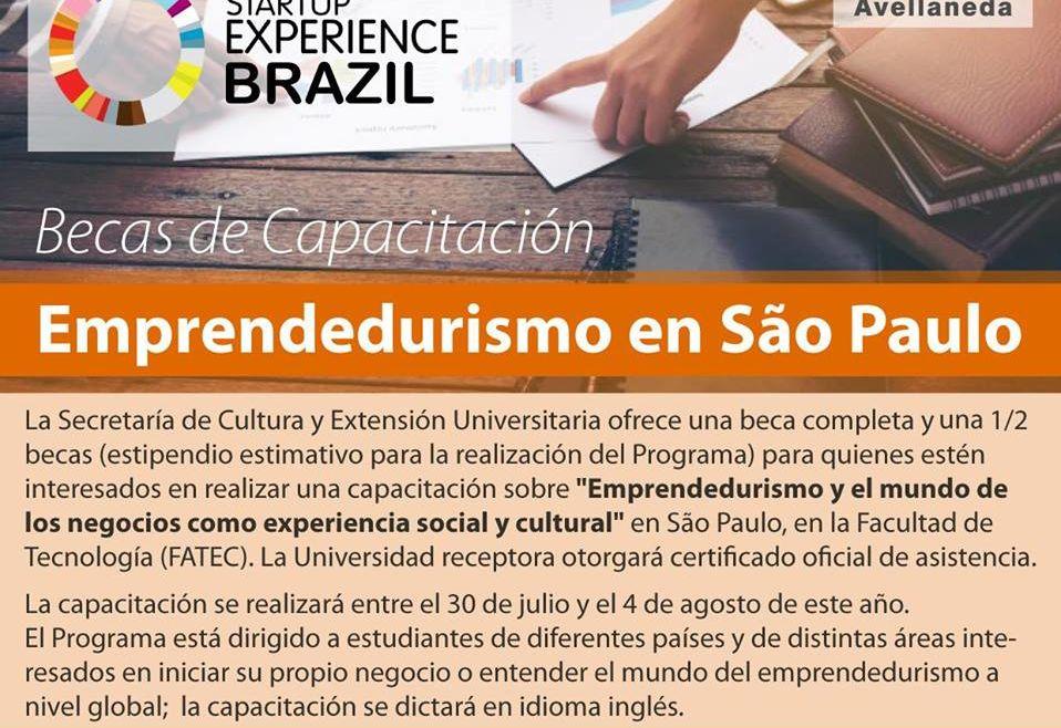 Beca para emprendedurismo en San Pablo