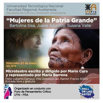 """Microteatro """"Mujeres de la Patria Grande"""""""