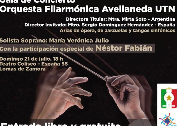 Filarmónica Avellaneda, gratis en Lomas de Zamora