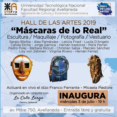 Las máscaras adornarán el Hall de las Artes