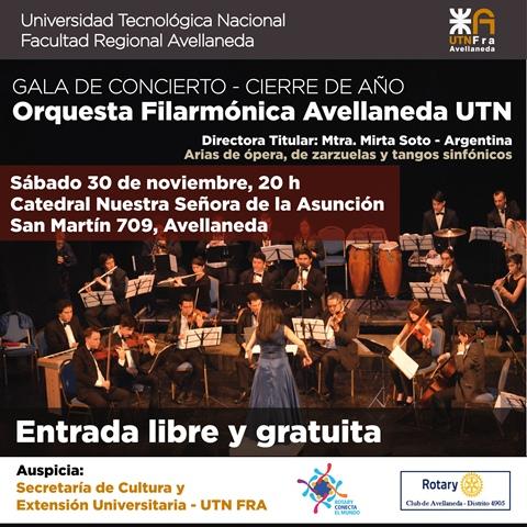La Filarmónica Avellaneda UTN despide el año